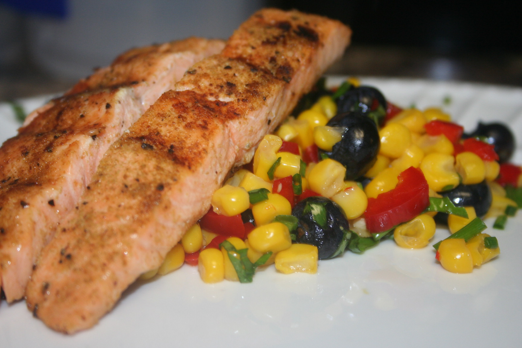 I Used My George Foreman Grill To Cook The Salmon So It Took Far Less Time  That If I Had Cooked It On A Charcoal Grill