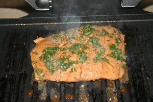 Grilled speedy salmon for George foreman grill fish