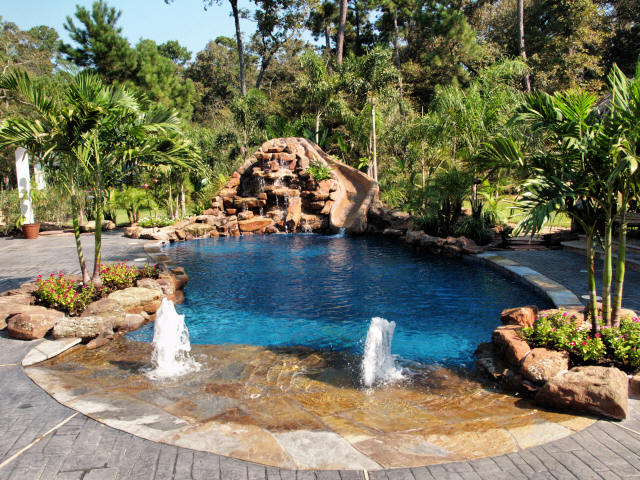 Creating a backyard oasis for Garden oases pool entrance